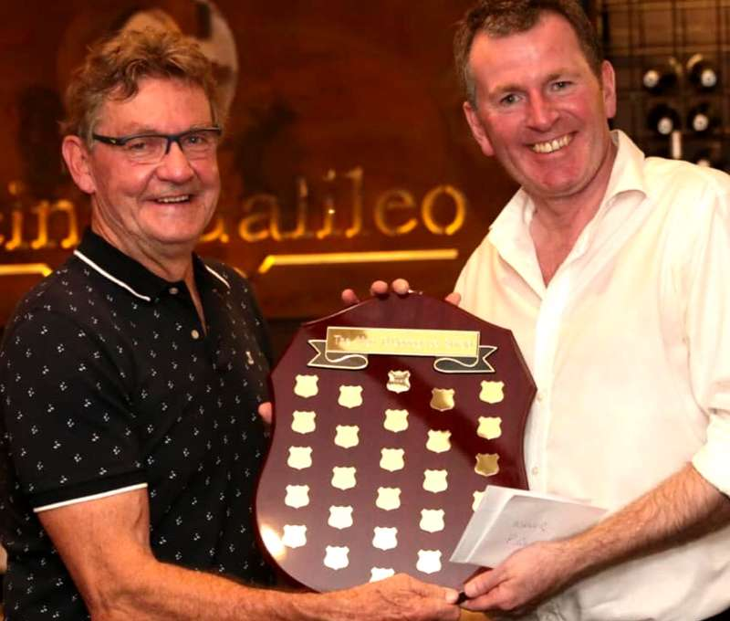 Club Marconi winner Peter Gilchrist with Jason Colebrook