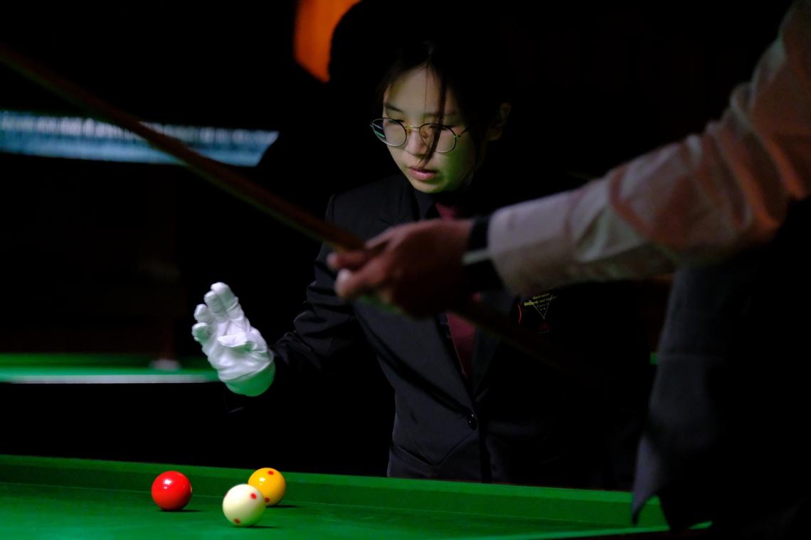 Alice Wu refereeing