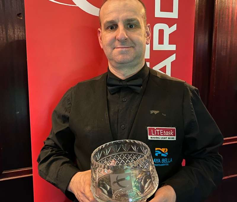 David Causier with the Scottish Open trophy